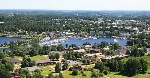 Lappeenranta Fortress from air