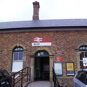 borth rail station and museum,