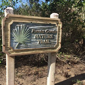 Sign showing the trail