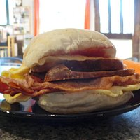 One of our Full Monty Breakfast Baps