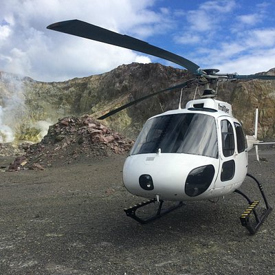 Airbus AS350 on the crater floor