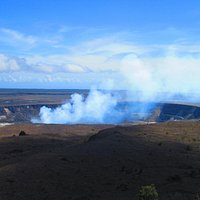 Kilauea Volcano viewed from Visitor Center