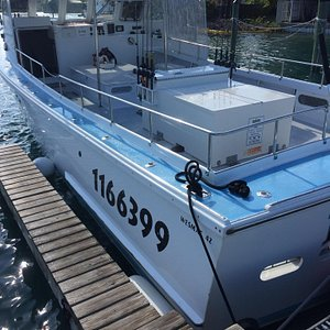 Can't ask for a better fishing vessel. The Wesmac 42 is a beast, and the down east style boat is