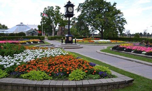 Outdoor gardens and clock