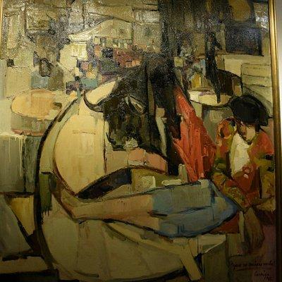 Ingresso del museo e alcune immagini della mostra dell'artista Corriga di Atzara