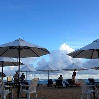 amazing sunset  on the beach  Black and White Restaurant