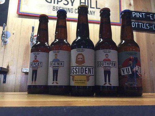 Some of the fab Craft Beers at Gipsy Hill Brewery