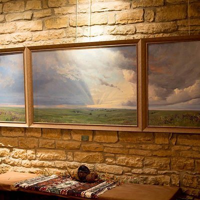 One of the beautiful paintings at the Flint Hills Gallery
