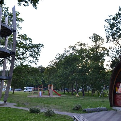 Cafe and playground