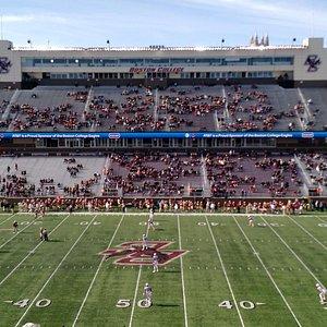 Very small crowd at kickoff!