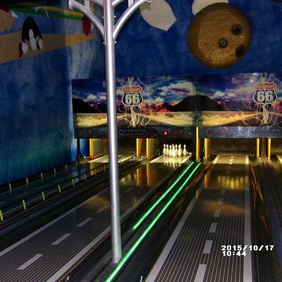 4 lanes of bowling