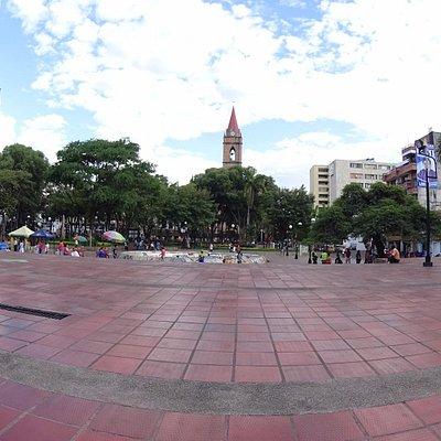 Vista del Parque Santander desde la Gobernacion