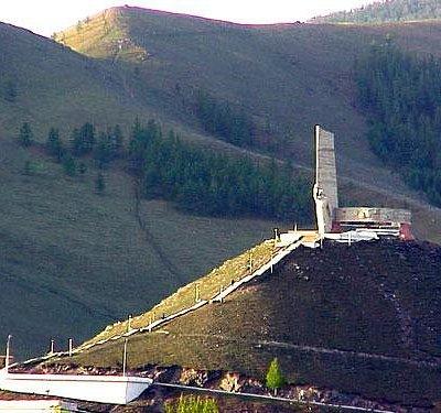 Zaisan nemorial near by Bogd khan mountain
