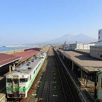 森駅と駒ヶ岳