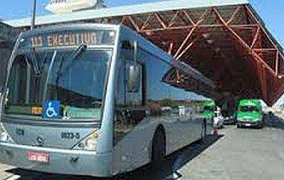 Executive bus, Brasília airport, Brazil.