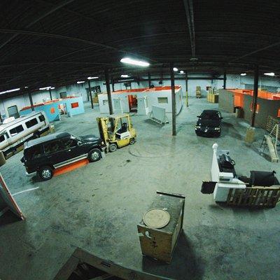 Indoor airsoft arena