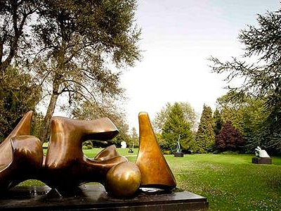 The sculpture gardens at Henry Moore Studios & Gardens