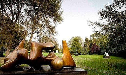 The sculpture gardens at Henry Moore Studios & Gardens