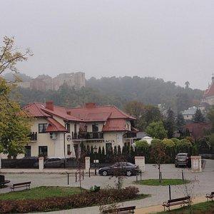 Panorama na zamek od strony Wisły