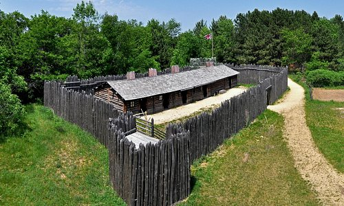 Visit the reconstructed fur trading post