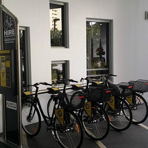 Bike hire located at the foyer