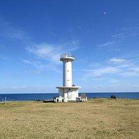 階上灯台と小舟渡海岸の眺望