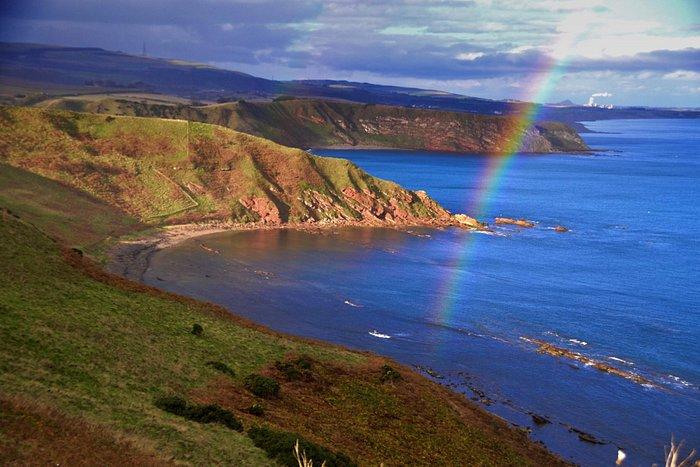 Cliff Top walk near Coldingham Scottish Borders