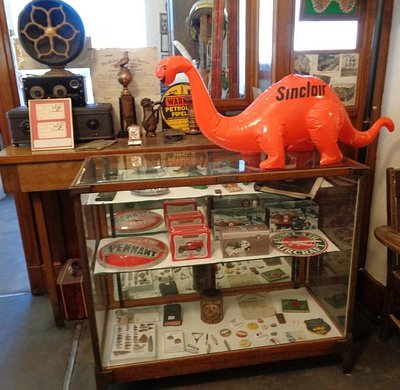 Sinclair Oil memorabilia in Parco-Sinclair museum