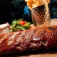 Babyback ribs in homemade BBQ sauce
