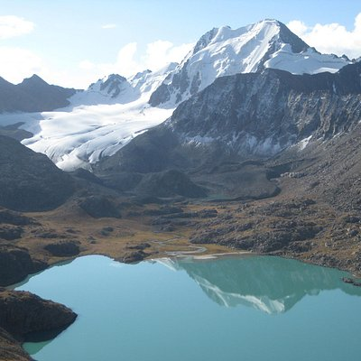 Glacier at the east end of the lake