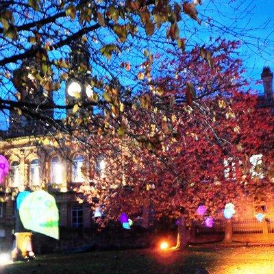Paisley Town Hall at night