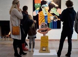 """Fra udstillingen """"Længe leve mangfoldigheden"""" med koloristen Leif Sylvester på Galleri Flintholm"""