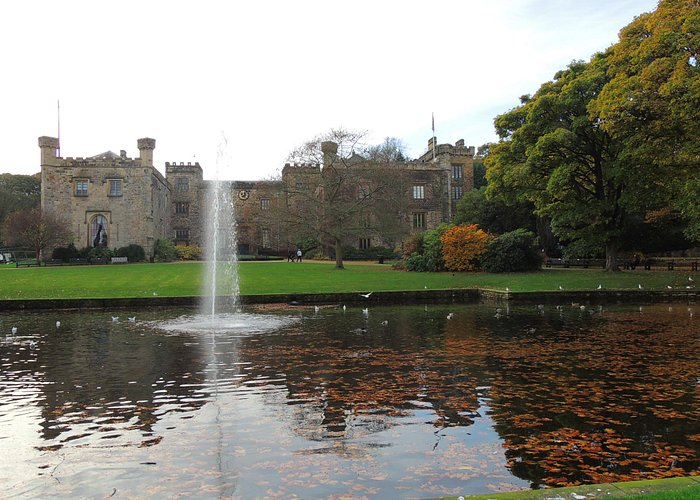 Towneley Hall from the Pool