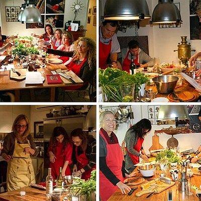 Come learn the secrets of the delicious colorful mediterranean cuisine at Bossi's private home