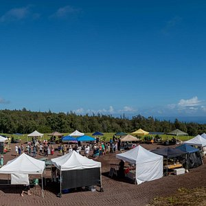 The Farmers' Market with views.