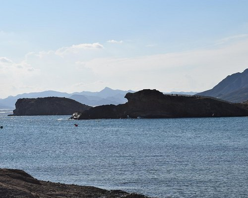 View of the Cabezo del Gavilan from the Yacht club side of the beach