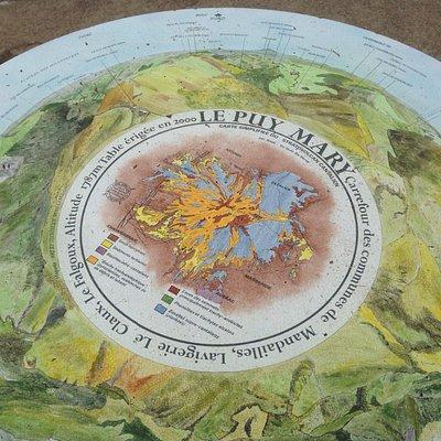 Tableau d'orientation au sommet du puy Mary.