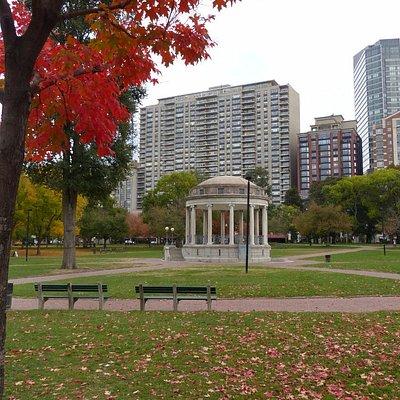 Parkman Bandstand during Autumn