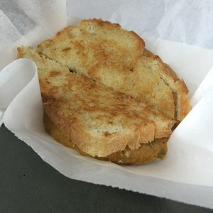 pumpkin grilled cheese - seasonal this year and delicious!