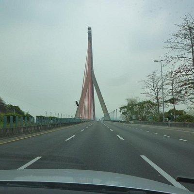 霧台風景区 :車窓の風景:二重渓に架かる橋