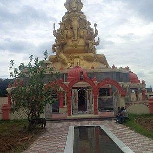 Frontal view of panchamuki ganesha temple