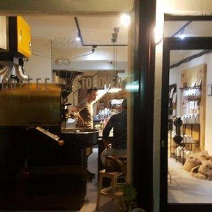 probat roaster in coffee stopover