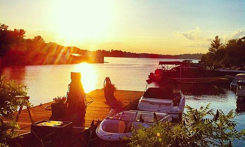 Muskoka Wharf Rentals is located in a picturesque setting on Lake Muskoks