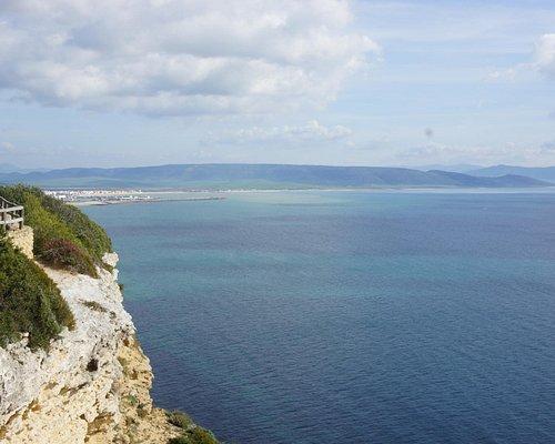 La costa desde el acantilado de la Breña