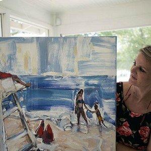 Anita and her art
