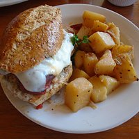 Chicken Sandwich & Potatoes
