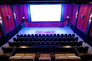 Our remodeled theater has brand new rocking leather seats and couches.