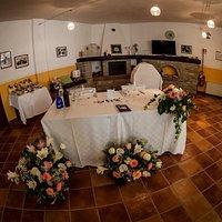 Un'angolo della sala da pranzo...