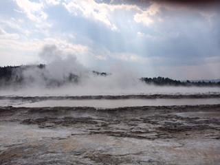 Eruption begins