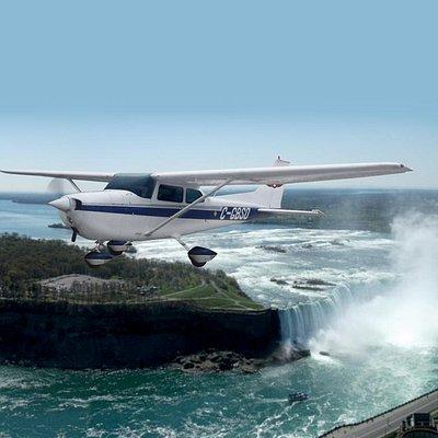 Flying at Niagara Falls...really close